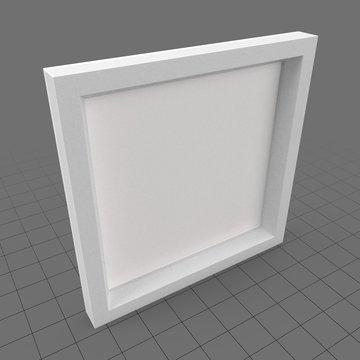 White thick square frame