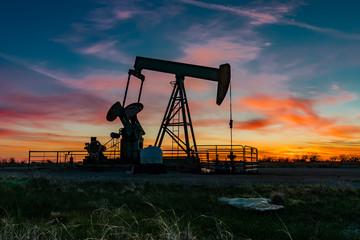 Papiers peints Texas Pumpjack Sunrise