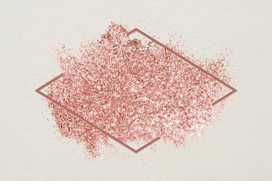 Pink glitter smudge