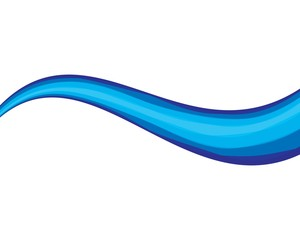 Dynamic texture wavy blue background vector
