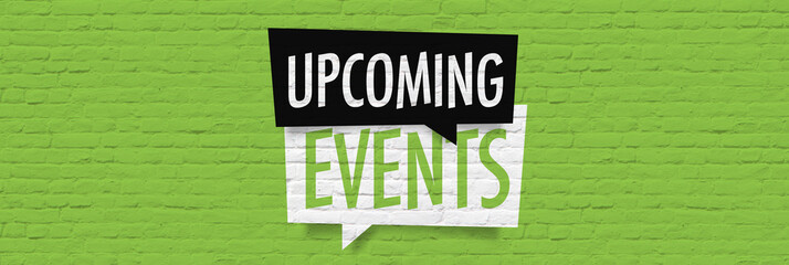 Upcoming events Wall mural