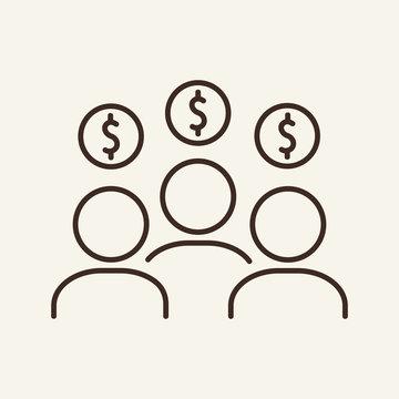 Employees line icon