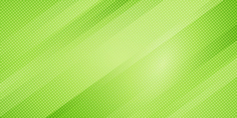 Abstract green nature gradient color oblique lines stripes background and dots texture halftone style. Geometric minimal pattern modern sleek texture.