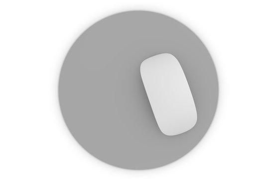 isolated mousepad mockup