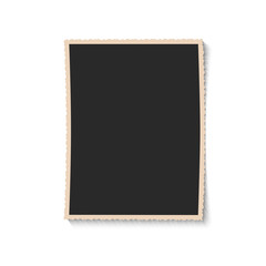 Wall Mural - Vintage empty photo frame. Black and white retro photography.