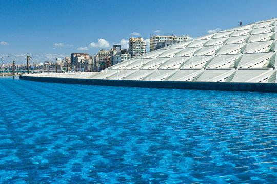 Biblioteca de Alejandria, Ciudad de Alejandria, Egipto, Mar Mediterráneo