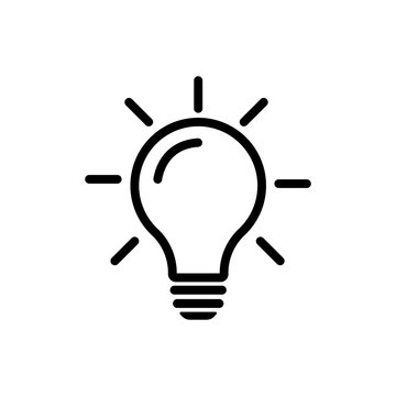 Bulb light vector icon. Lighting Electric lamp. Electricity, shine. Light Bulb icon vector