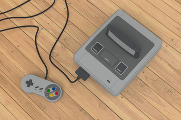 console on wood