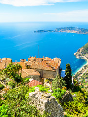 On the top of the Eze village. Provence, France