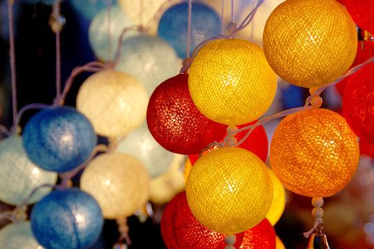 Colorful Cotton Ball Lights