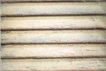 Peeling louver slats