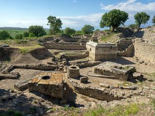 Ruins of ancient Troia city, Canakkale (Dardanelles) / Turkey