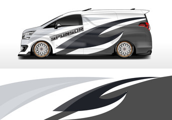 Car wrap company design vector. Graphic background designs for vehicle van livery , Eps 10