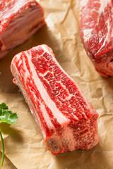Wall Mural - Raw Organic Beef Short Ribs