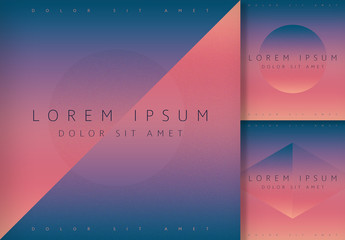 Futuristic Gradient Social Posts with Navy and Orange Accents Layout