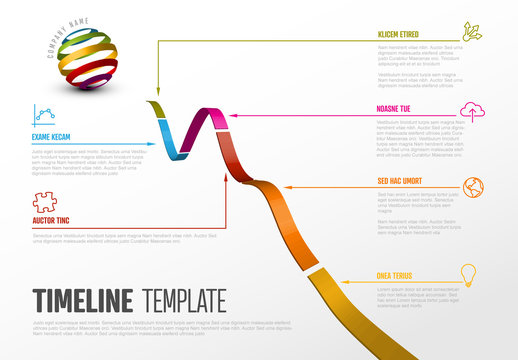 Infographic with Ribbon Elements