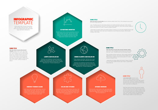 Infographic with Hexagonal Elements