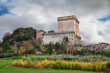 Sarteano, Siena, Tuscany, Italy: the medieval castle at the top of the village