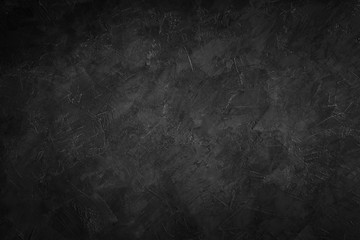 Poster Stenen Dark black stone texture background