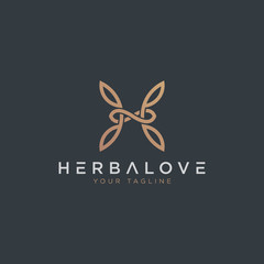 Sophisticated H Logo - Vector logo template