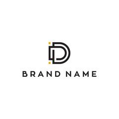 Fototapeta D initial letter vector logo design obraz