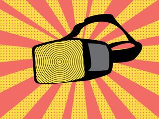 Pop art vr glasses