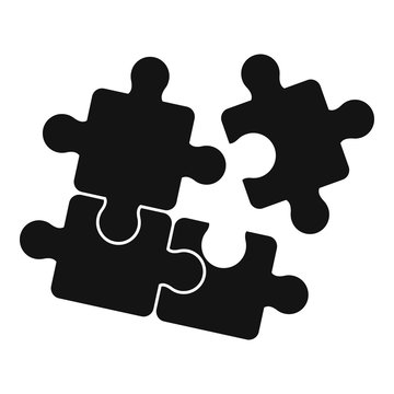 Puzzle icon. Simple illustration of puzzle vector icon for web design isolated on white background