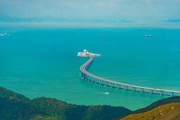Hong Kong Zhuhai Macao Bridge - entrance to the undersea tunnel Fototapete