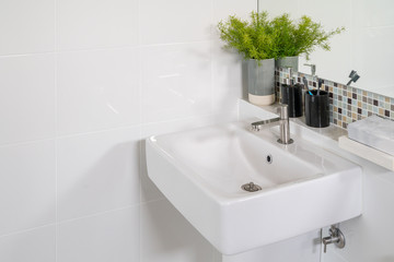 Bathroom interior in new luxury home