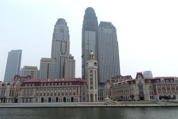 Panoramic views on Tianjin Papier Peint