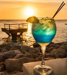 Blue Lagoon Drink   Views around the small Caribbean Island of Curacao