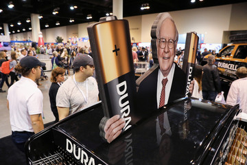 Shareholders shop for discounted products at the annual Berkshire Hathaway shareholder meeting in Omaha