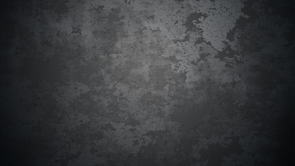 Vector dark concrete texture. Stone wall background. Black background. Wall mural
