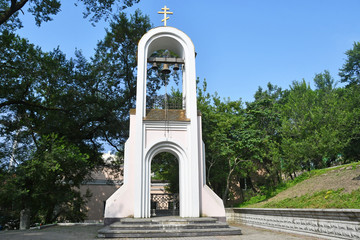 Russia. Vladivostok, the bell tower of the chapel of the Holy Martyr Tatiana
