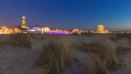Warnemünde Strand bei Nacht