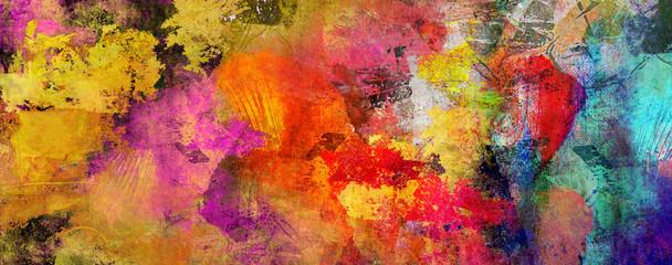 texturen malerei gold rot cyan banner