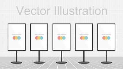 Digital signage (Flat design)