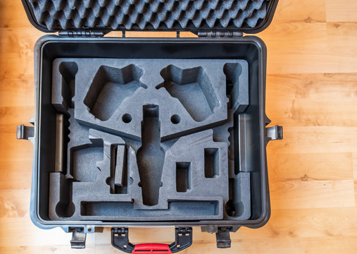 Generic hardcase with foam inlay for technical equipement like cameras and drones
