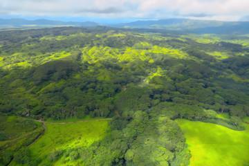 Wailua River State Park aerial view, Kauai, Hawaii, USA