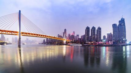 Chongqing, China, city river view