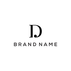 DJ monogram logo design