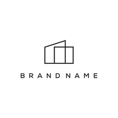 simple real estate logo design