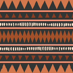 Fototapete - African Mudcloth Seamless Pattern