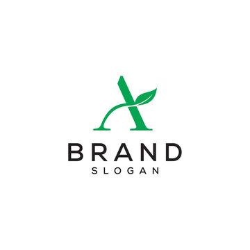 A letter leaf vector logo design