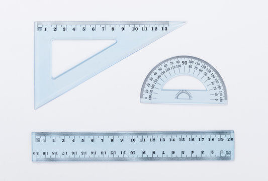 ruler metric at white background