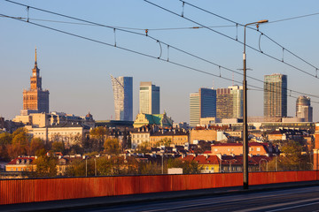 City Of Warsaw Downtown Skyline
