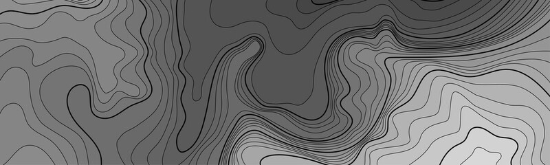 Map line of topography. Vector abstract topographic map concept with space for your copy. Black and white wave. Abstract paper cut. Abstract colorful waves. Wavy banners. Color geometric form.