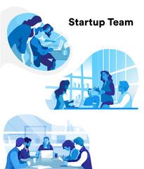 Team azienda e lavoro di squadra