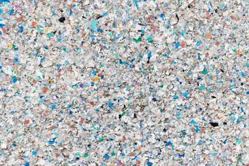 Verwittertes Recycling-Plastik