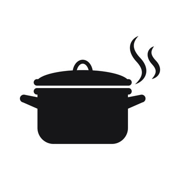 Pot icon isolated vector illustration
